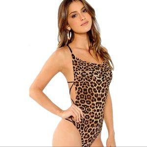 Leopard String Body Suit
